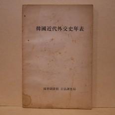 한국근대외교사연표 (韓國近代外交史年表)