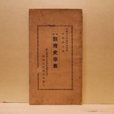 개정 교육사연표 (改訂 敎育史年表)